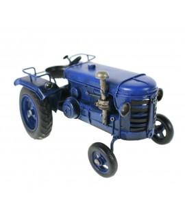Tractor azul de metal
