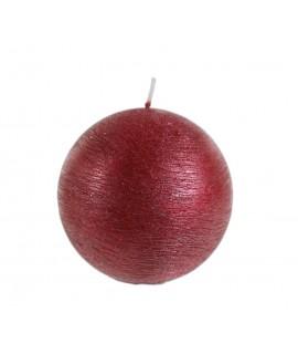 Vela redonda color rojo