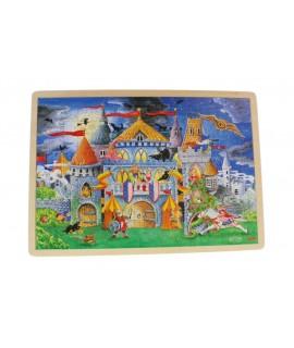 Trencaclosques joc encaixable de 192 peces de fusta Castell Encantat