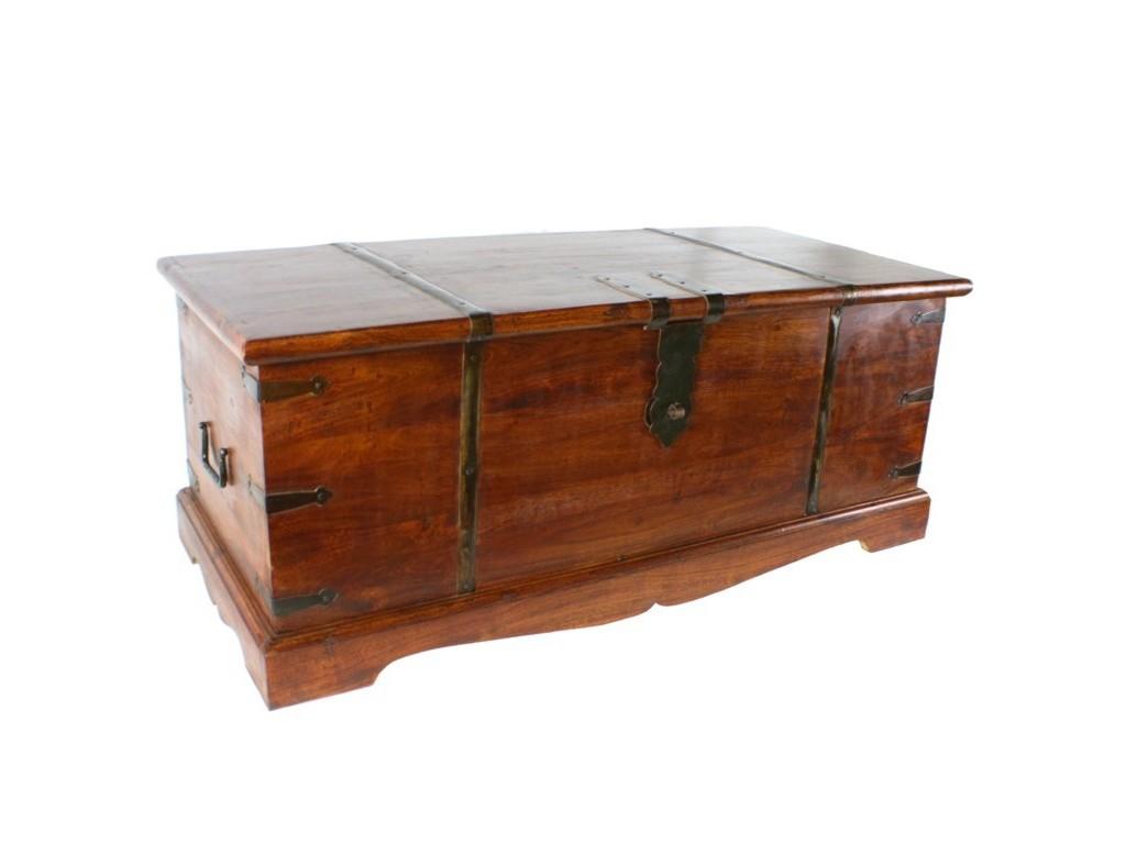 Ba l de madera decoraci n rustico for Baules de plastico para jardin