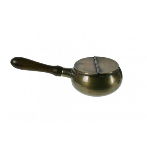 Cenicero de metal pulido pequeño para bolsillo