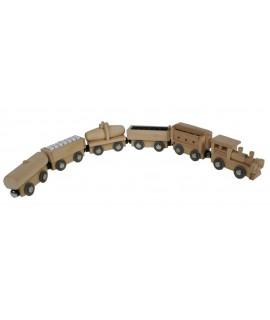 Train magnétique 5 wagons de marchandises