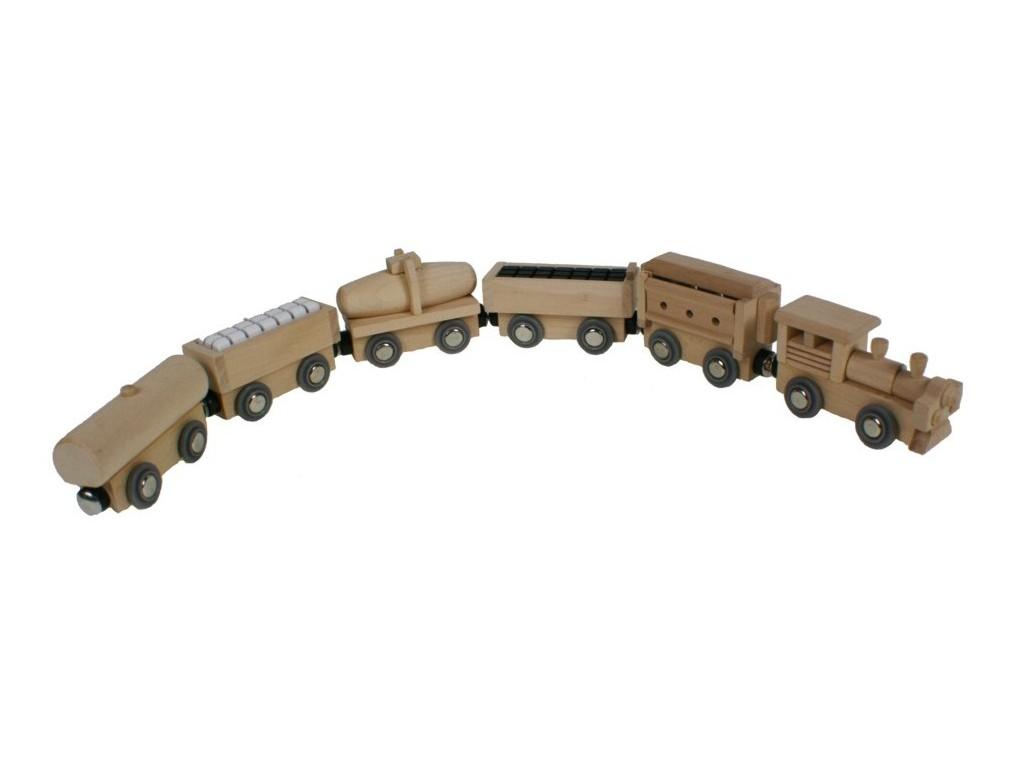 Tren magnético 5 vagones de carga