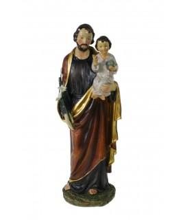 Escultura de sobre taula Sant Josep amb Nen