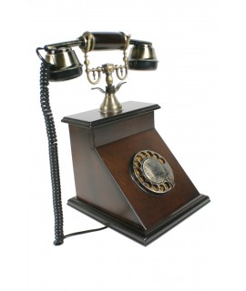 Teléfono antiguo de sobremesa.