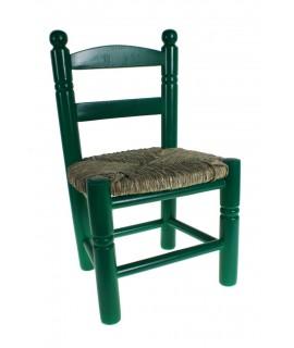 Cadira Infantil de fusta verda