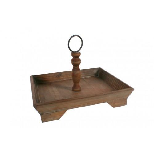 Centro de mesa de madera maciza estilo rustico