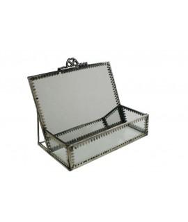 Boîte à bijoux en cristal avec miroir