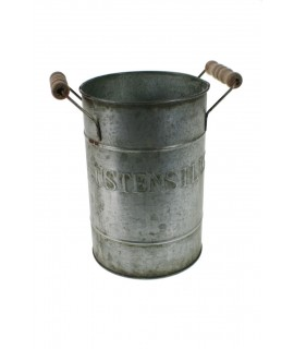 Bote de metal zincado para utensilios de cocina