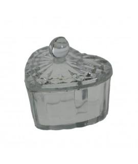 Petite boîte à bijoux coeur en verre