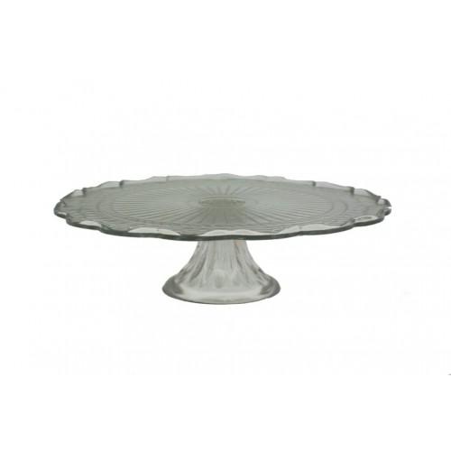 Plato para tartas con pie de vidrio menaje de mesa