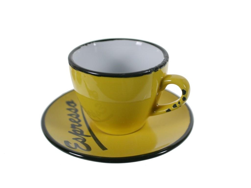 Taza espresso amarilla for Tazas para espresso