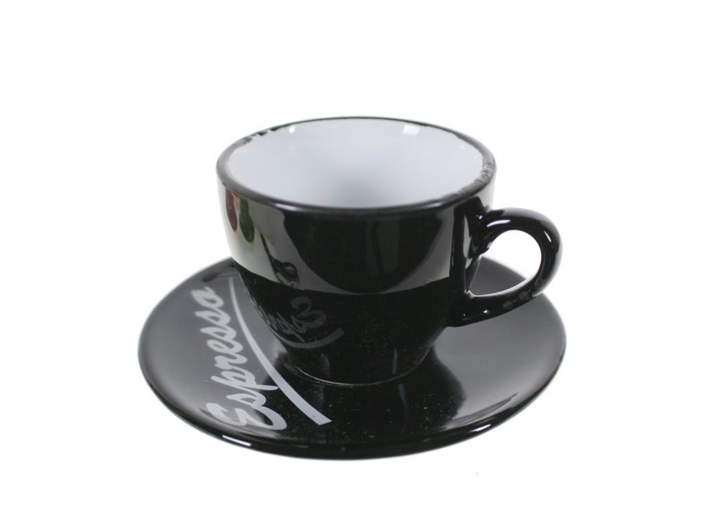 taza espresso oscura negro