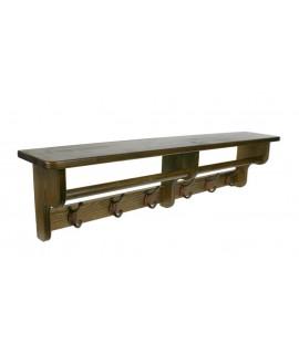 Penjador penjador amb barreter decoració vintage rústic de fusta roure