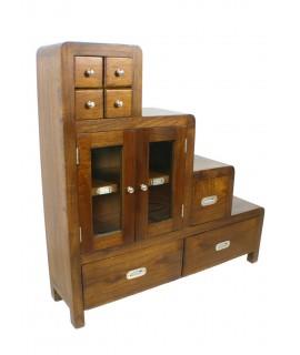 Mueble auxiliar de madera color castaño con cajones