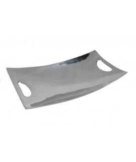 Plateau vide poches rectangulaires en aluminium