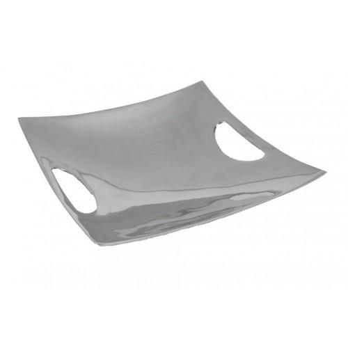 Bandeja vacía bolsillos cuadrada de aluminio