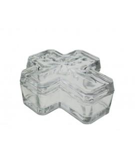 Boîte en cristal en forme de croix