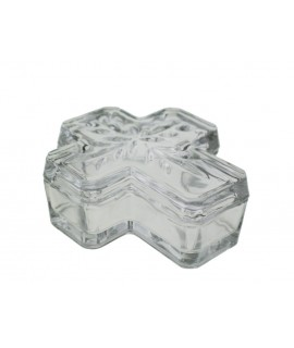 Caja de cristal forma cruz