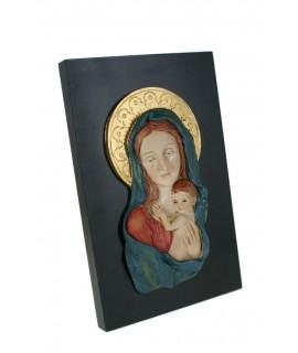 Placa amb Mare de Déu i Nen