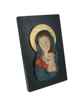 Placa con Virgen y Niño