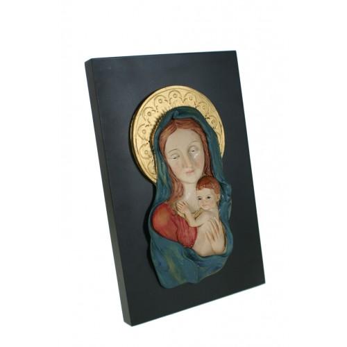Placa con Virgen  María y Niño Jesús para pared