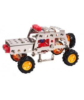 Juego de construcción coche Todoterreno de 125 piezas. Medida caja: 5x24x16 cm.