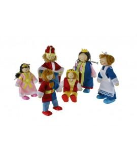 Muñecos articulados Família del rey