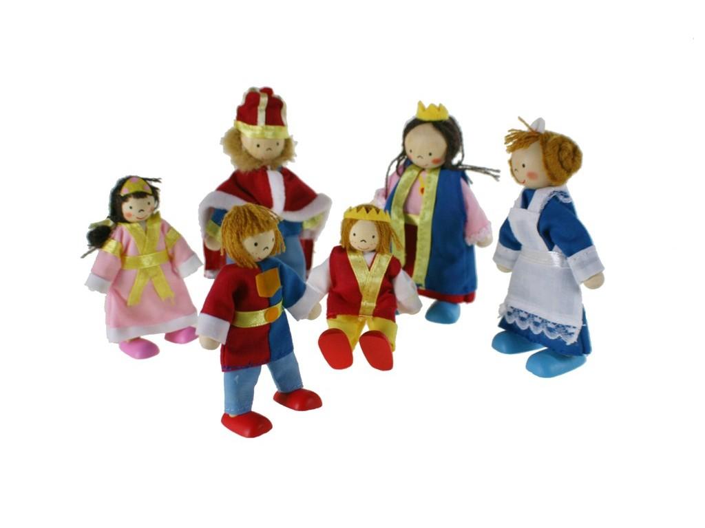 Muñecas articulados de madera miembros de familia del rey