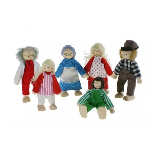 Muñecos de Madera Família
