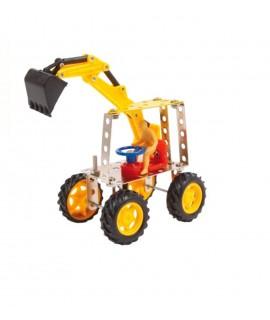Juego de construcción Excavadora 72 piezas. Medida Caja 5x24x16 cm.