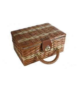Cosidor cistella vímet petit costura brodat per a emmagatzematge