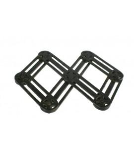 Estalvis extensible de metall color negre per protegir la taula parament de cuina