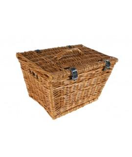 Maleta caja de mimbre estilo vintage para decoración