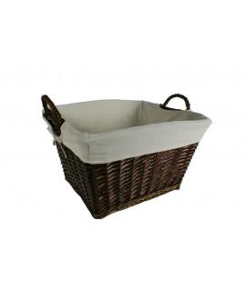 Cuévano cesta de mimbre color nogal