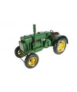 Rèplica de tractor estil vintage de color verd molt decoratiu