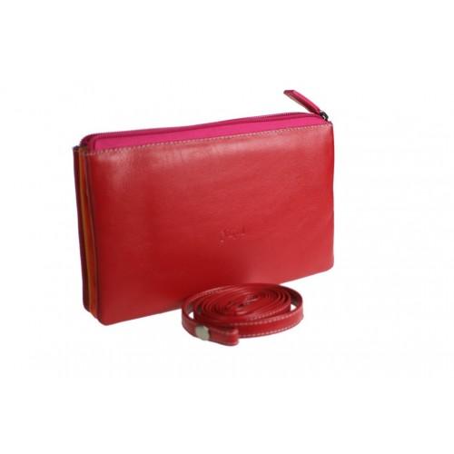 Moneder gran per senyora de color vermell rosa per documents i targetes