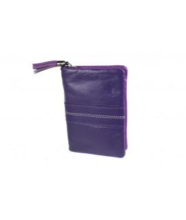 Monedero con billetera  para Señora de piel color lila muy suave al tacto. Artículo de alta calidad
