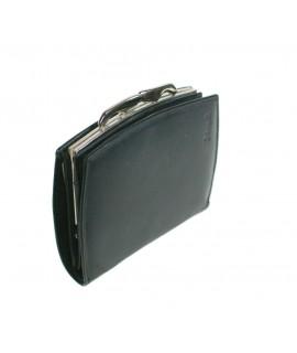 Portefeuille pour dame en cuir de couleur noire de style classique très doux au toucher
