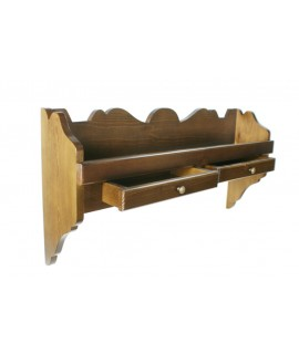 Estantería platero de madera maciza color nogal