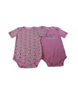 Body infantil color rosa 6-9 meses