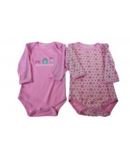 Body infantil color rosa 6-9 mesos
