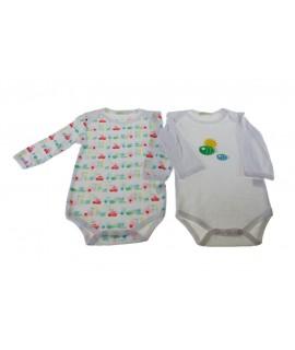 Body infantil color blanc 6-9 mesos