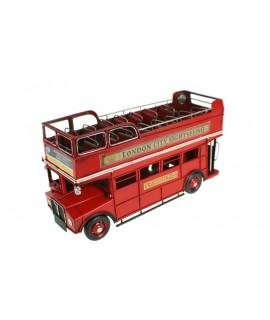 Rèplica d'Autobús de metall London de color vermell
