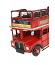 Réplica de Autobús de metal London de color rojo