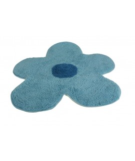 Alfombra de baño Flor azul