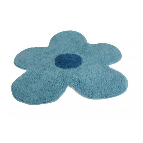 Alfombra de ba o flor azul - Alfombras de bano ...
