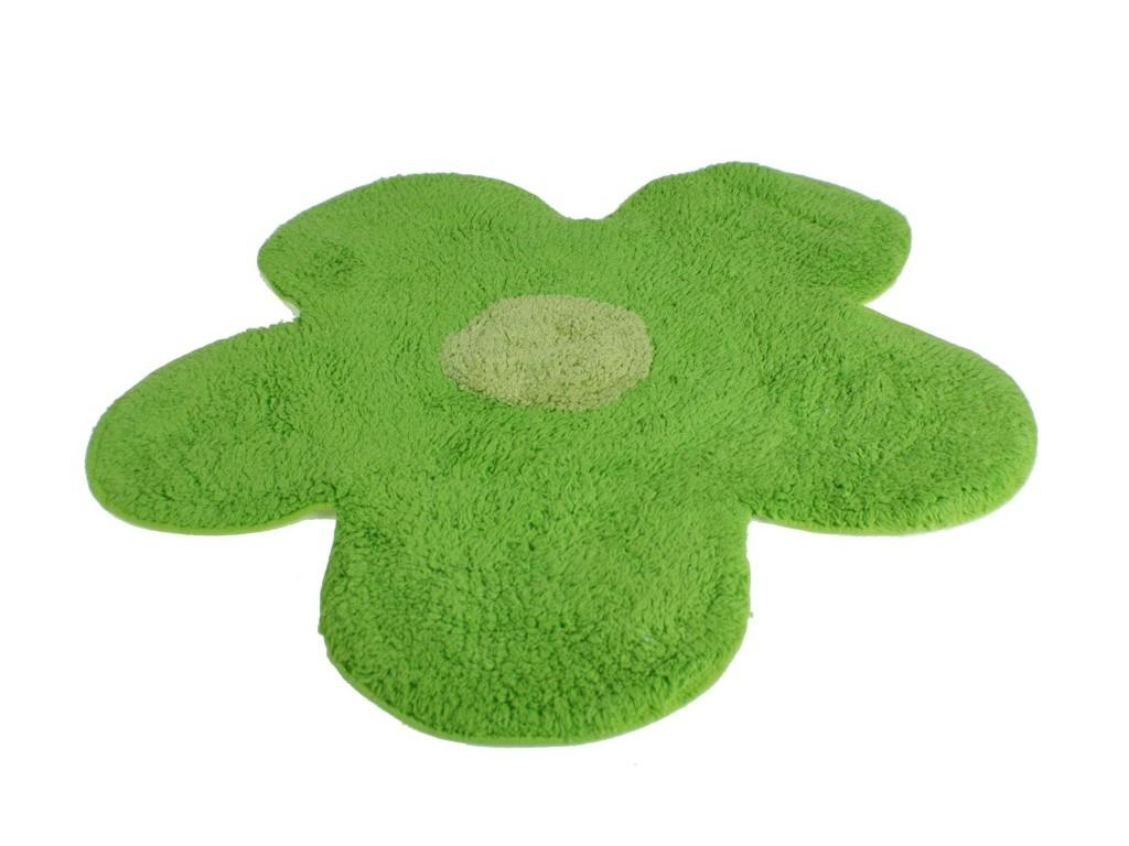 Alfombra de ba o flor verde for Alfombra verde para jardin