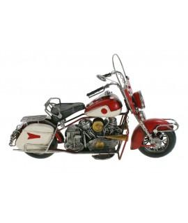 Moto roja grande de metal decoración retro