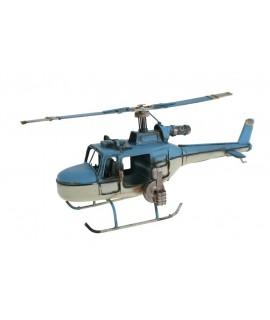 Réplique d'hélicoptère de chasse en bleu et blanc